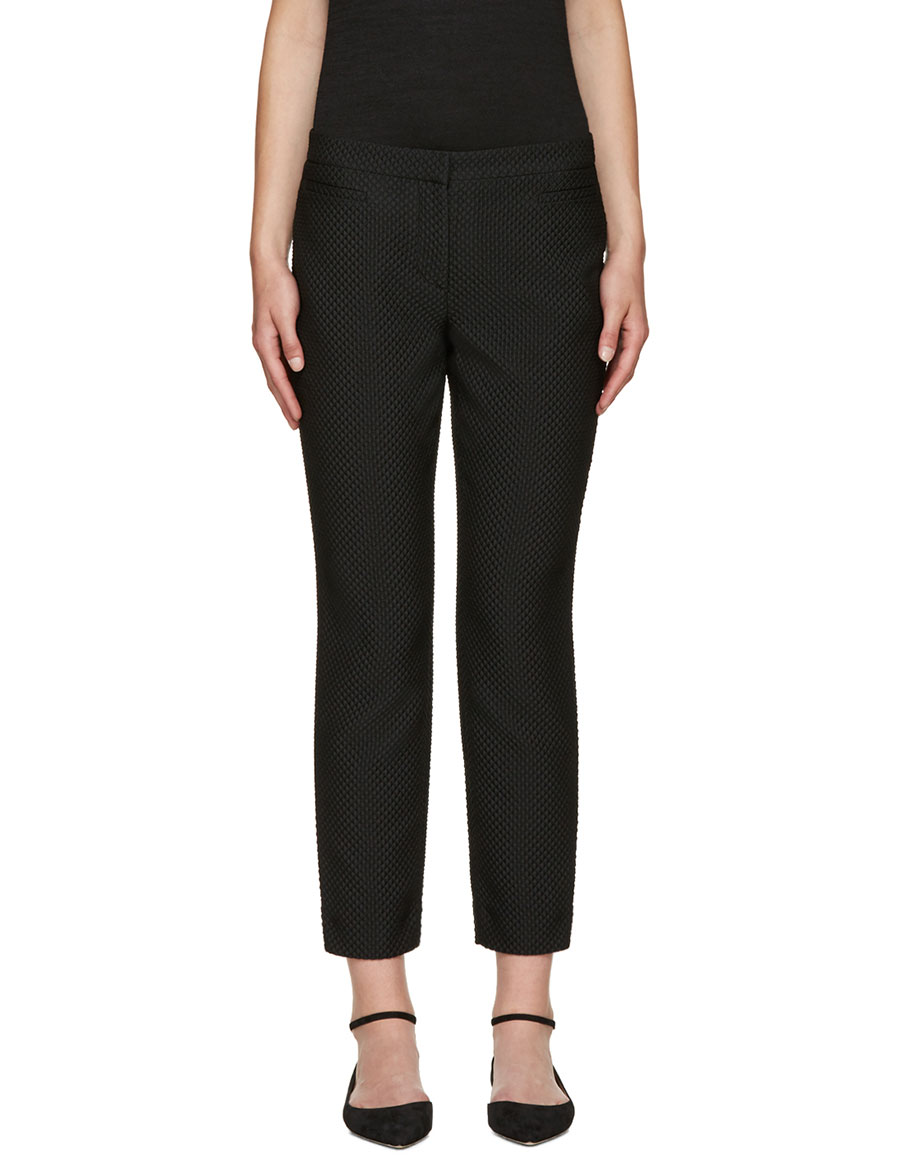 ERDEM Black Sienna Fitted Trousers