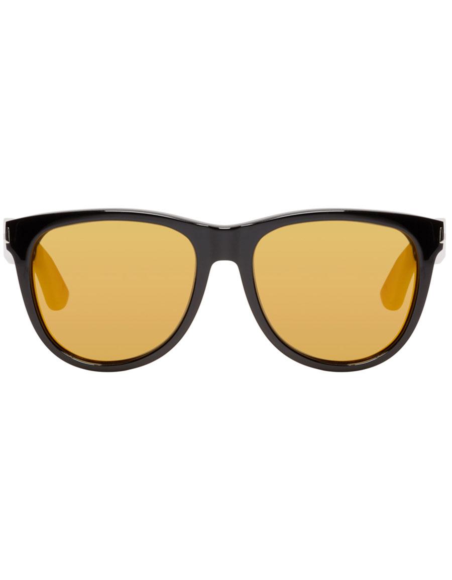 SAINT LAURENT Black & Gold SL 101 Surf Sunglasses