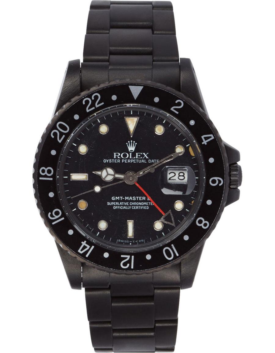 ROLEX Matte Black Limited Edition Rolex GMT Master II Watch