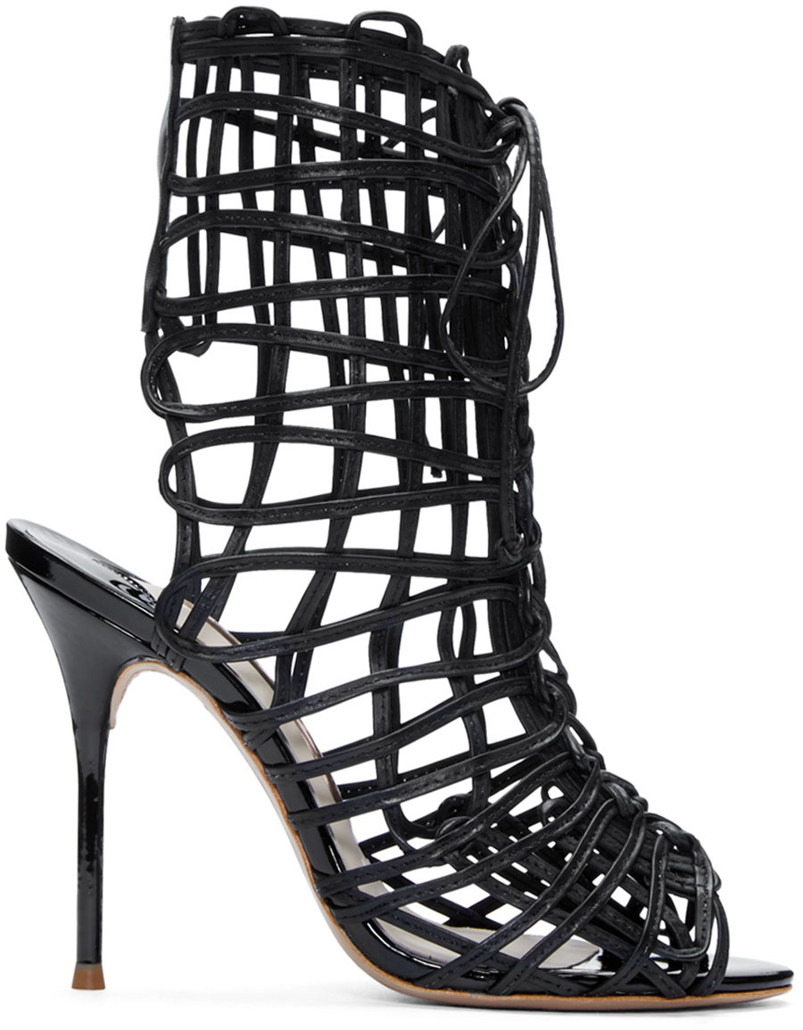 SOPHIA WEBSTER Black Delphine Cage Sandals