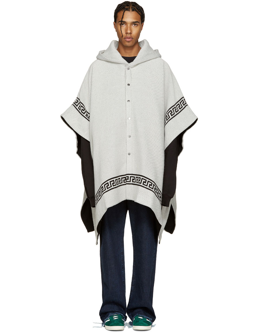PALM ANGELS Off White & Black Skull Cape