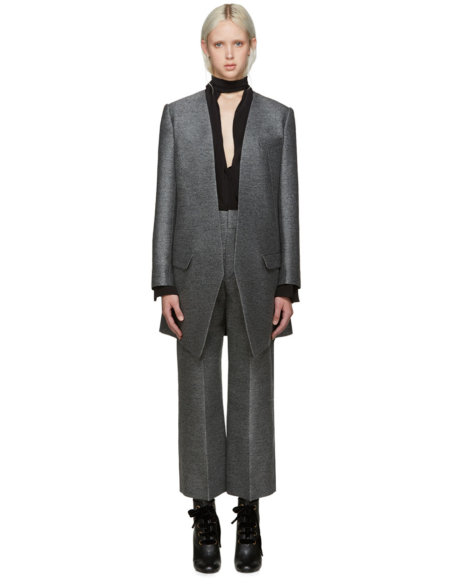 LANVIN Grey Fitted Coat