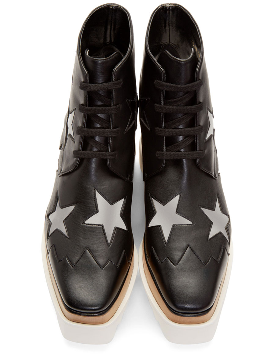 STELLA MCCARTNEY Black Star Platform Elyse Boots