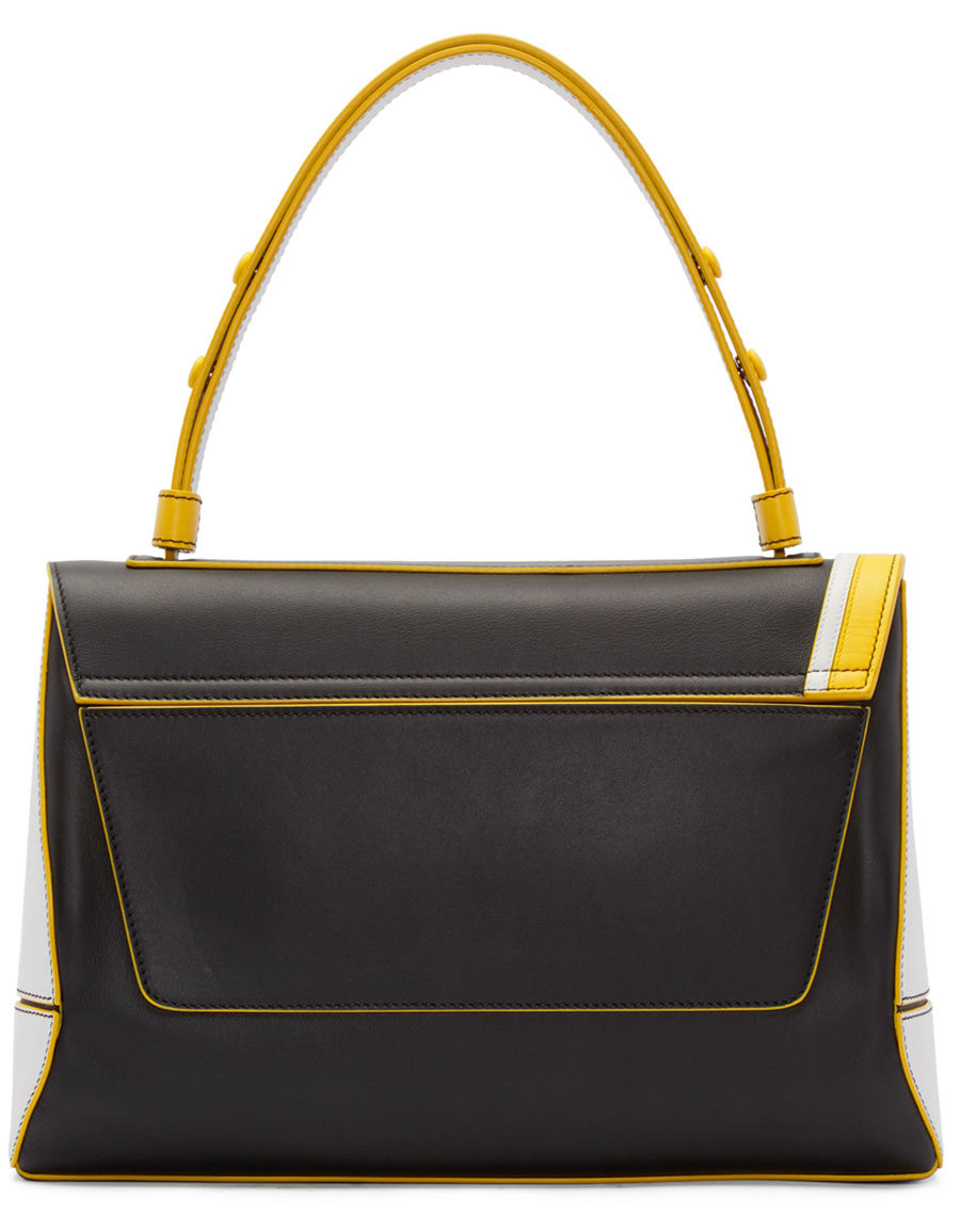 EMILIO PUCCI Black Leather Large Satchel
