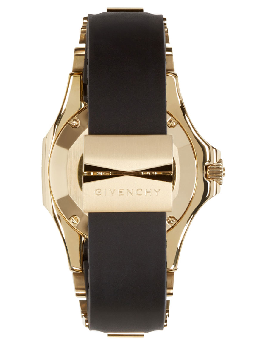 GIVENCHY Black & Gold Five Shark Watch