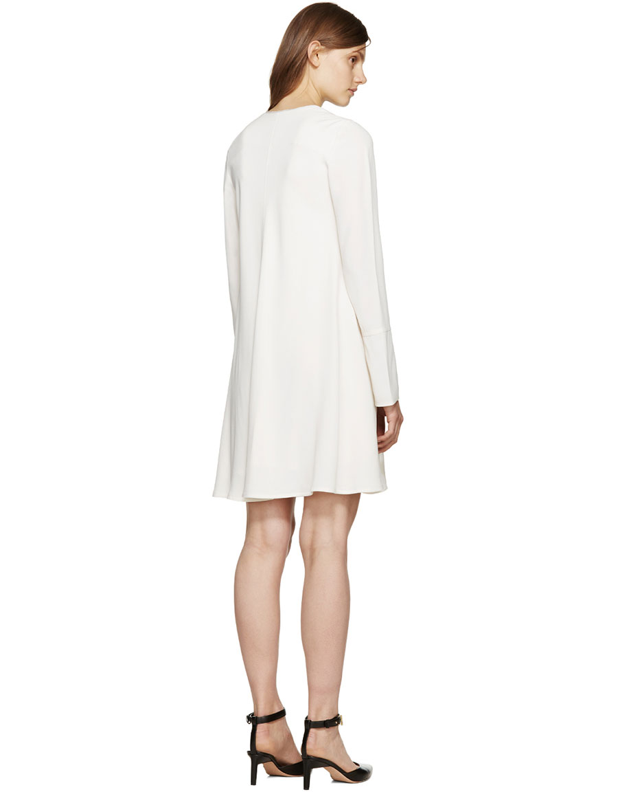 PROENZA SCHOULER Off White Crepe Dress
