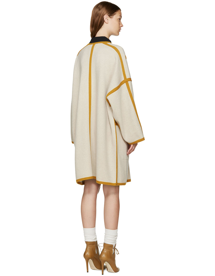 CHLOÉ Beige Felted Wool Cape