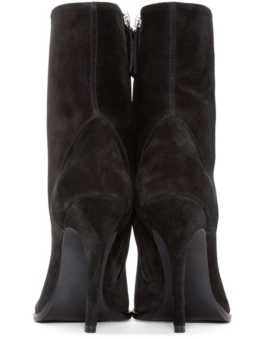 HAIDER ACKERMANN Black Suede Fantine Boots