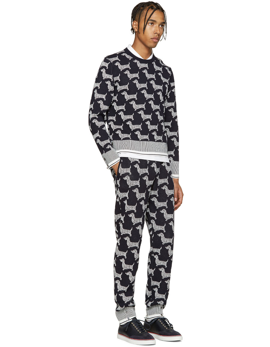 THOM BROWNE Navy Hector Browne Lounge Pants