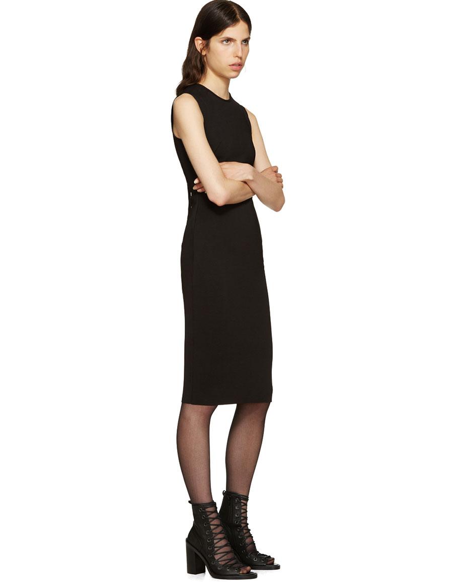 ANN DEMEULEMEESTER Black Lace Up Sandals