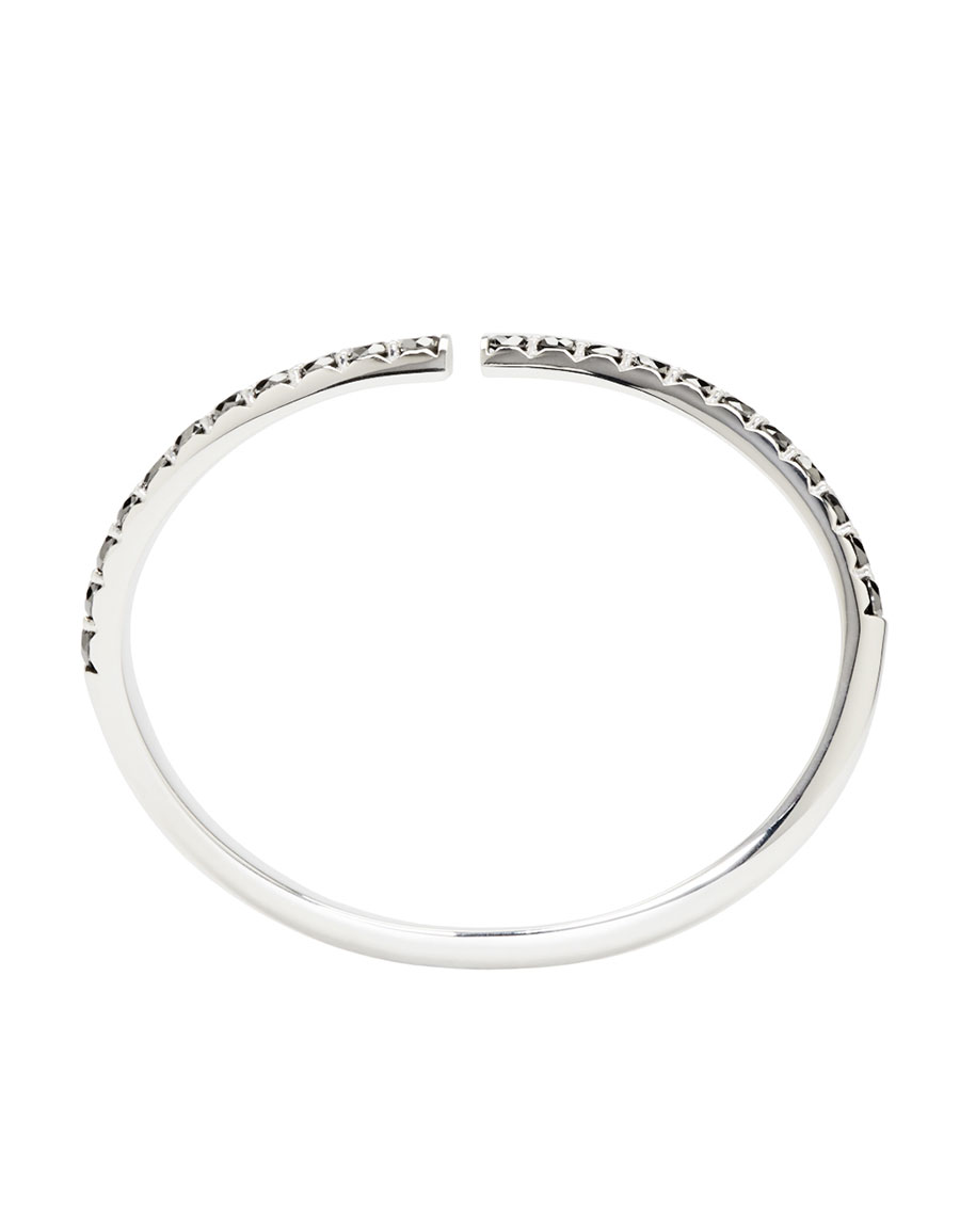 MAISON MARGIELA FINE JEWELLERY White Gold & Black Diamond Split Alliance Bracelet