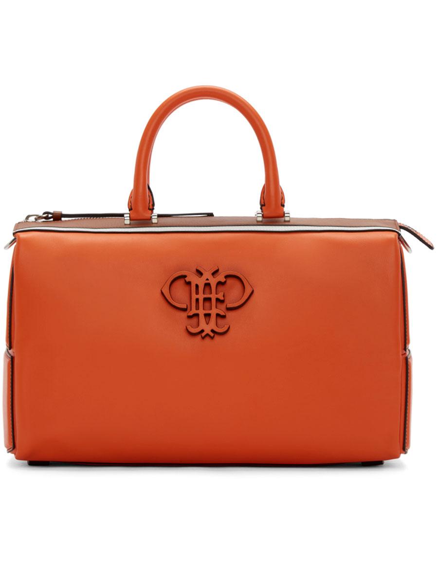 EMILIO PUCCI Orange Leather Logo Bag