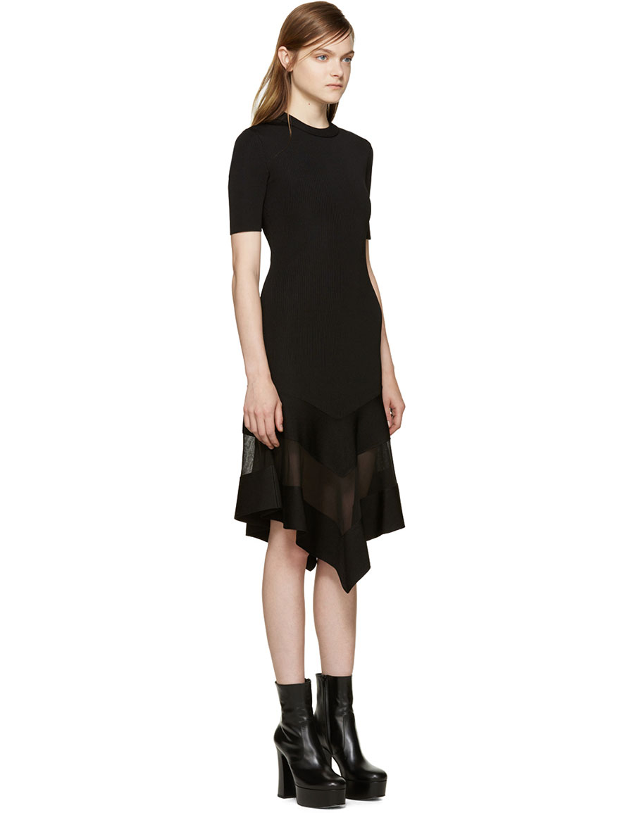 GIVENCHY Black Sheer Panel Dress