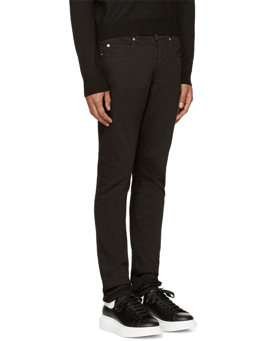 ALEXANDER MCQUEEN Black Strummer 02 Jeans