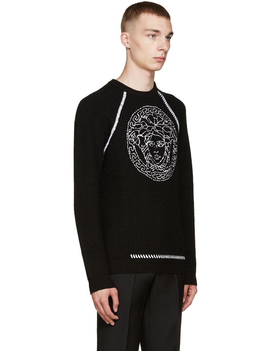 VERSACE Black Medusa Sweater