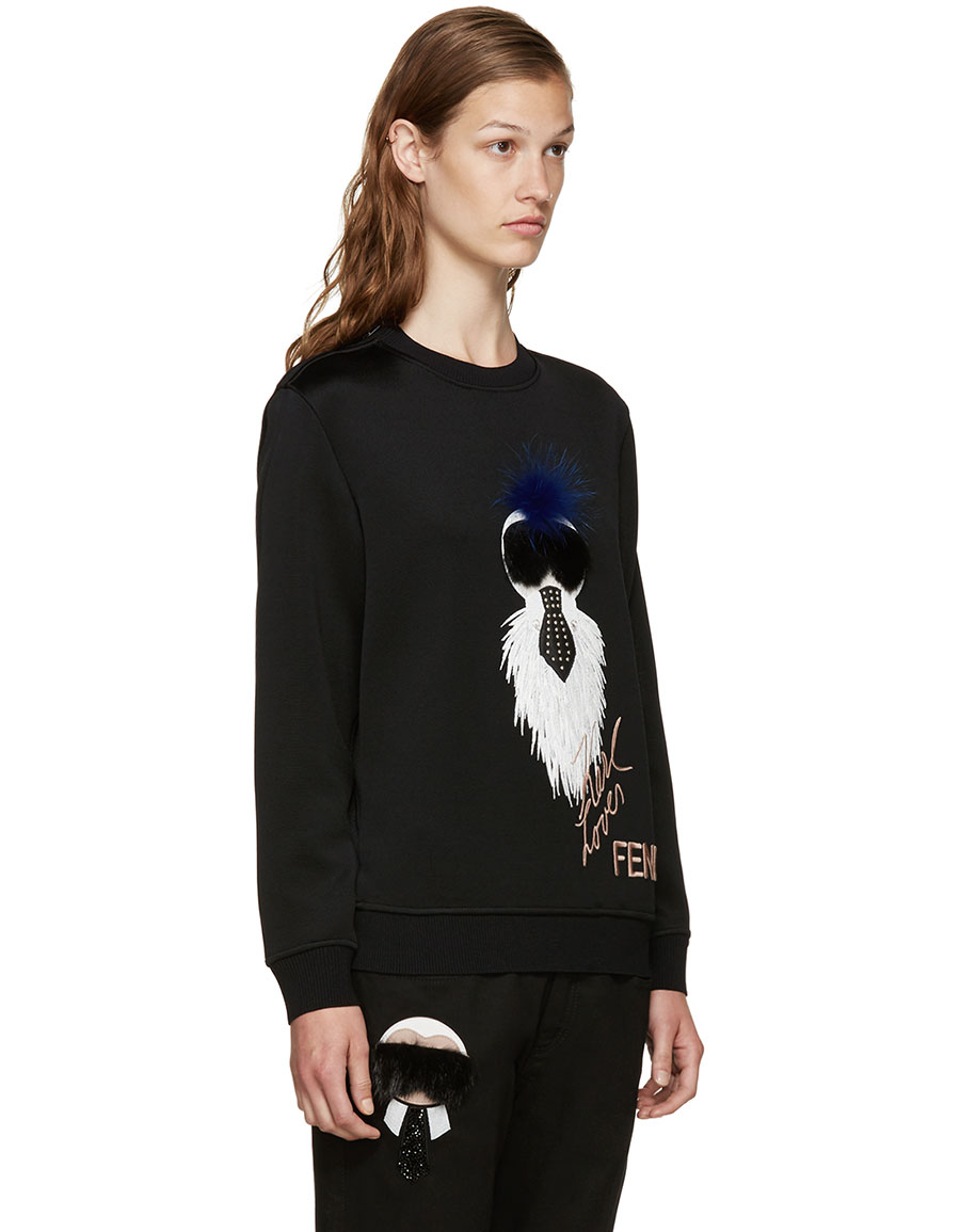 FENDI Black Karlito Sweater