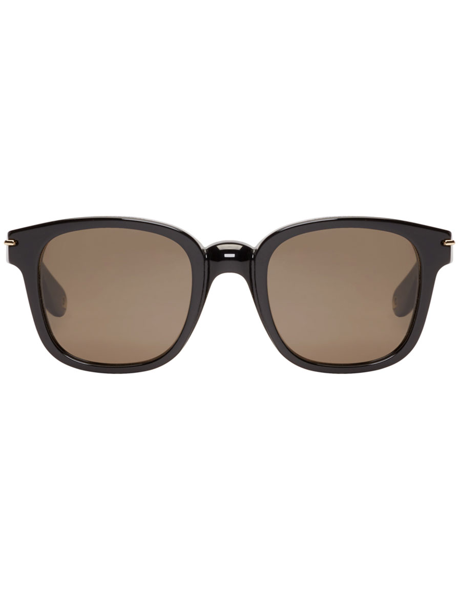 GIVENCHY Black Square Acetate Sunglasses