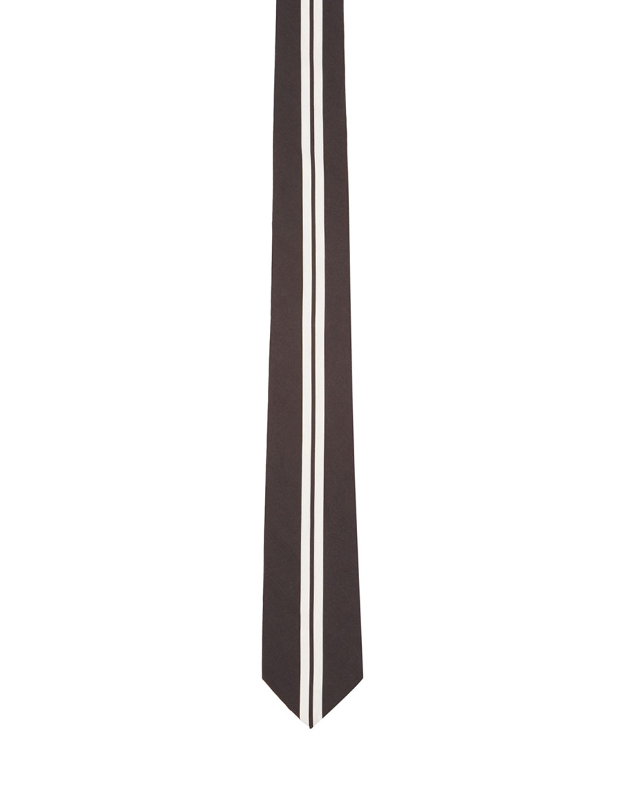 GIVENCHY Black & White Striped Tie