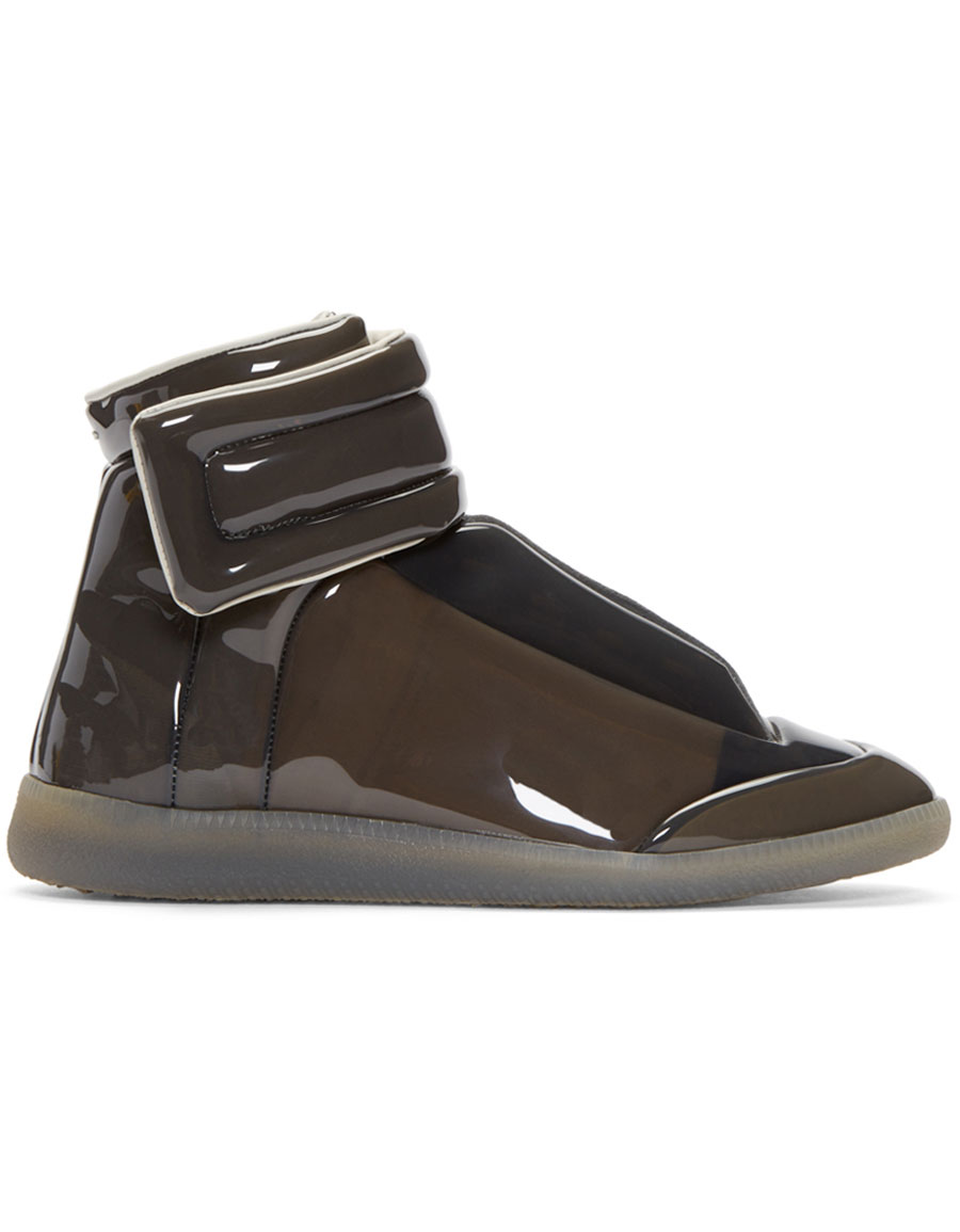 MAISON MARGIELA Grey Transparent Future High Top Sneakers