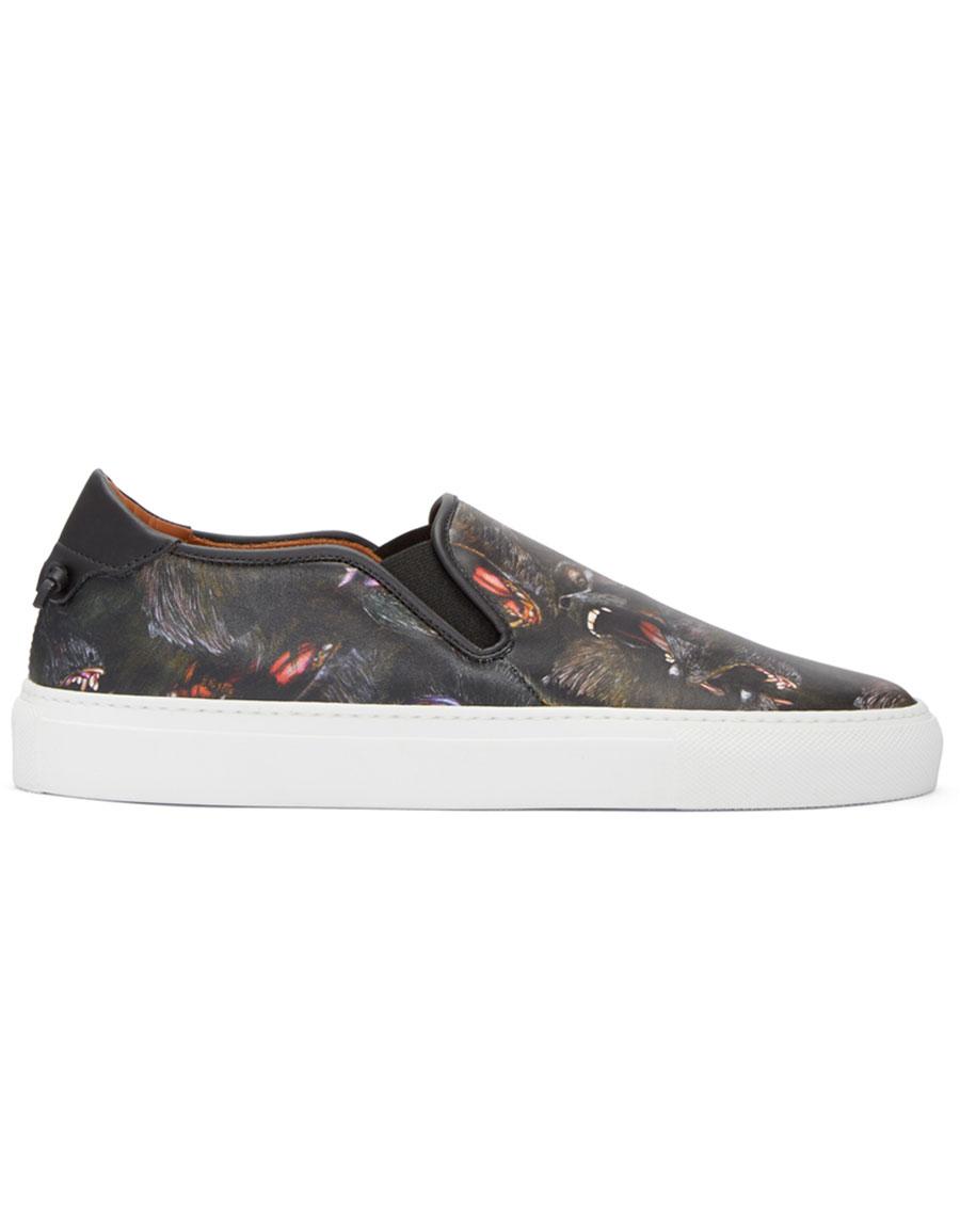 GIVENCHY Black Monkey Skate Slip On Sneakers