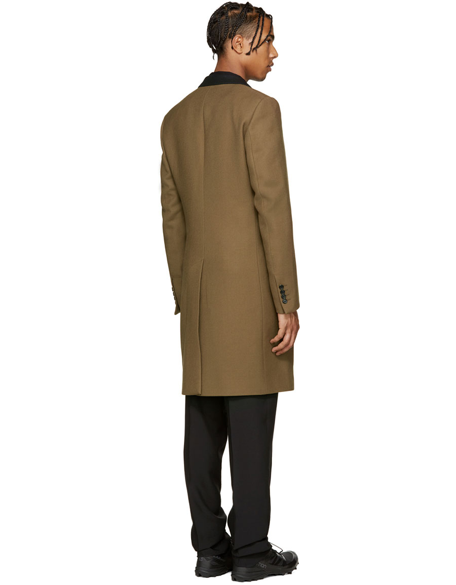 LANVIN Tan Wool Coat