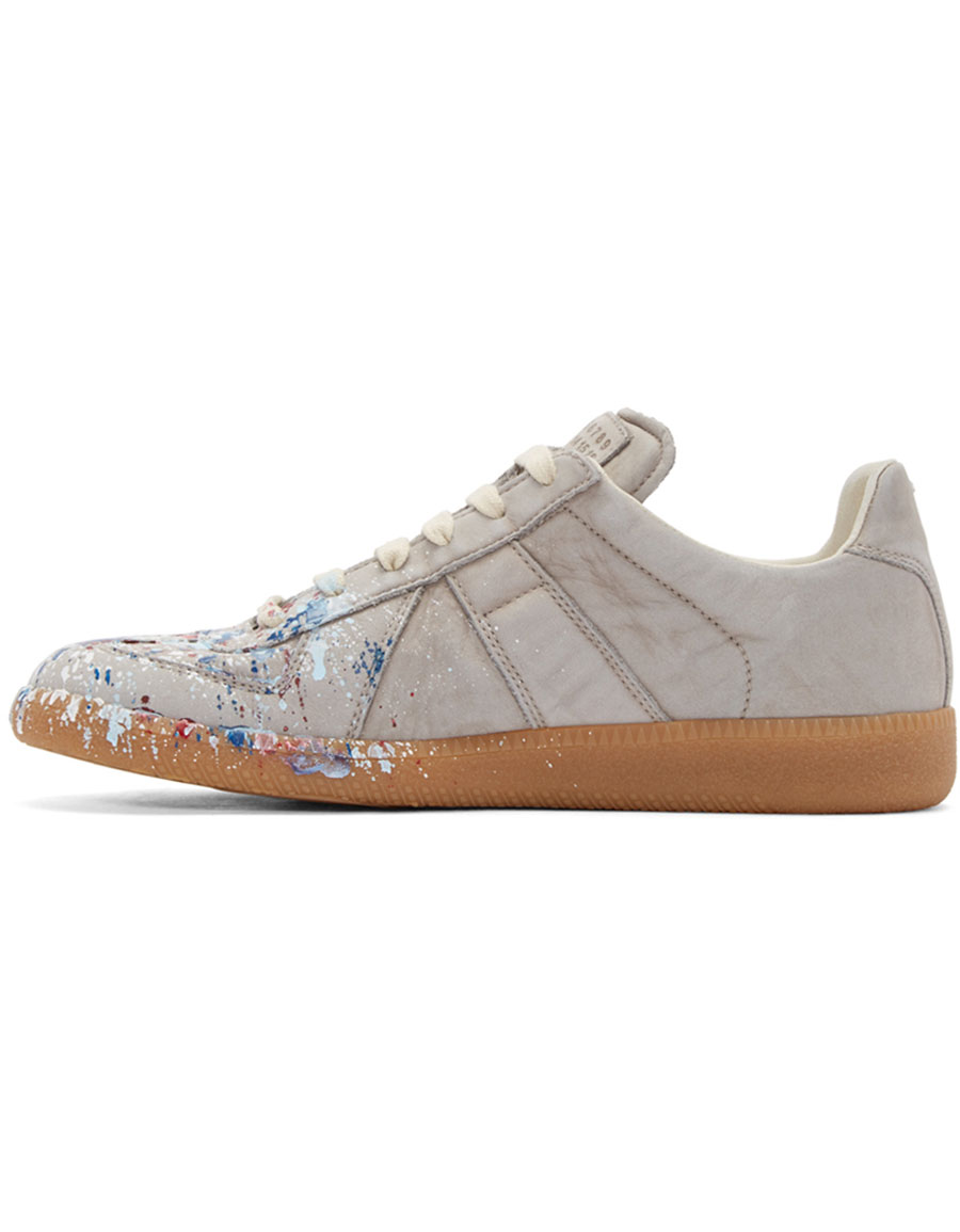 MAISON MARGIELA Grey Paint Splatter Replica Sneakers