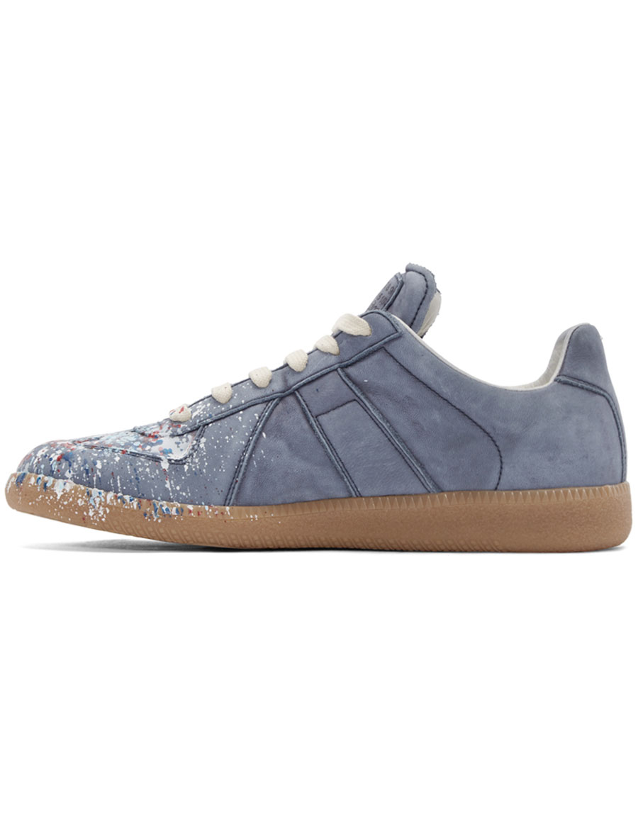 MAISON MARGIELA Blue Paint Splatter Replica Sneakers