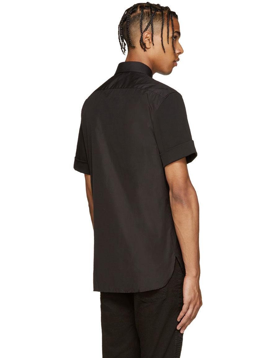 NEIL BARRETT Black Thunderbolt Shirt