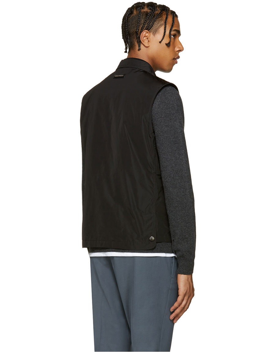 BURBERRY Black Pocket Vest