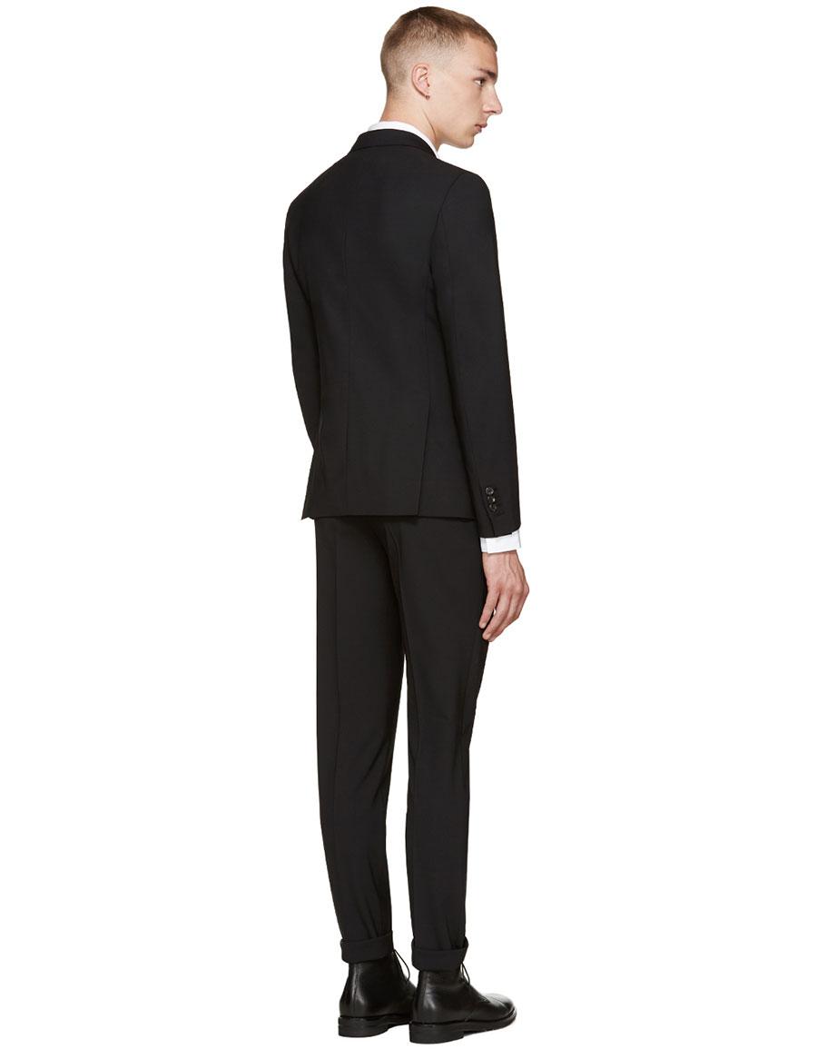 DSQUARED2 Black Wool Paris Suit