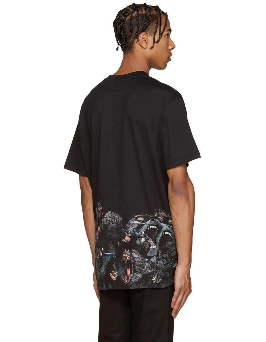 GIVENCHY Black Monkey T Shirt