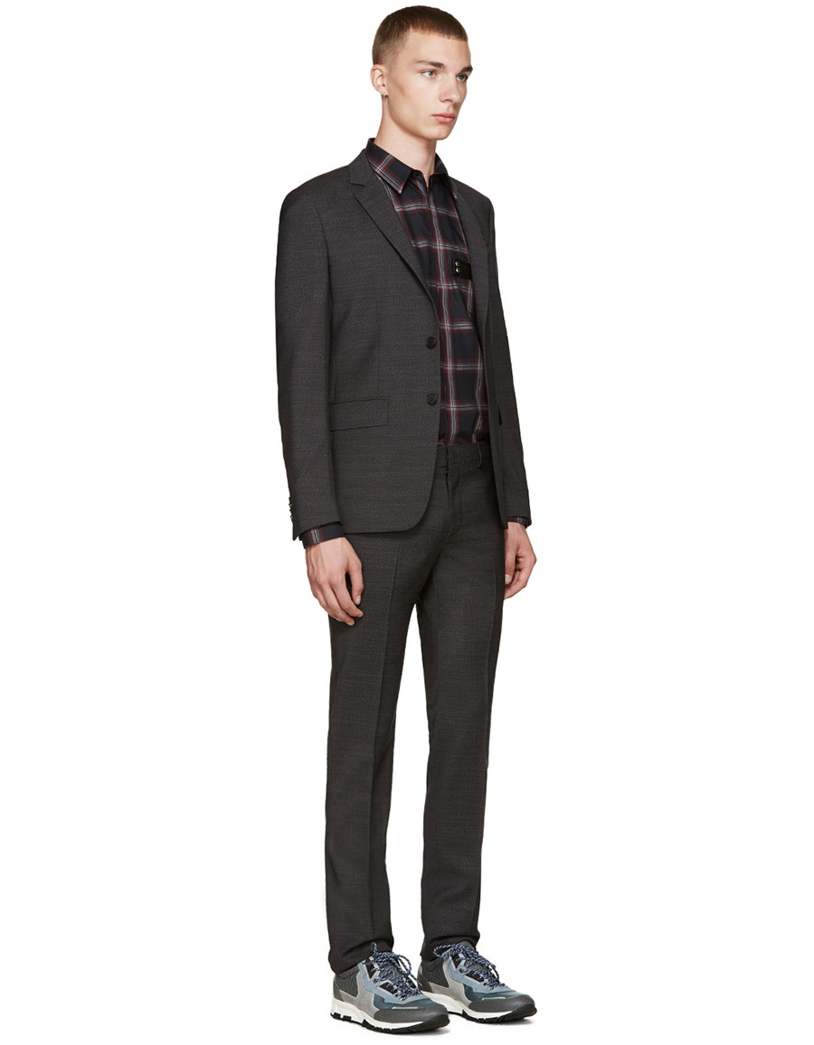 GIVENCHY Black Plaid Shirt