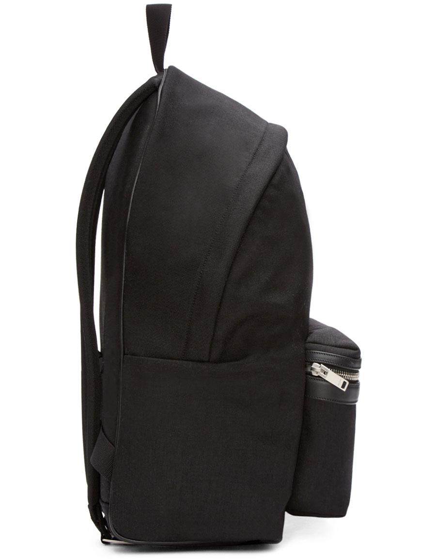 SAINT LAURENT Black Canvas Backpack