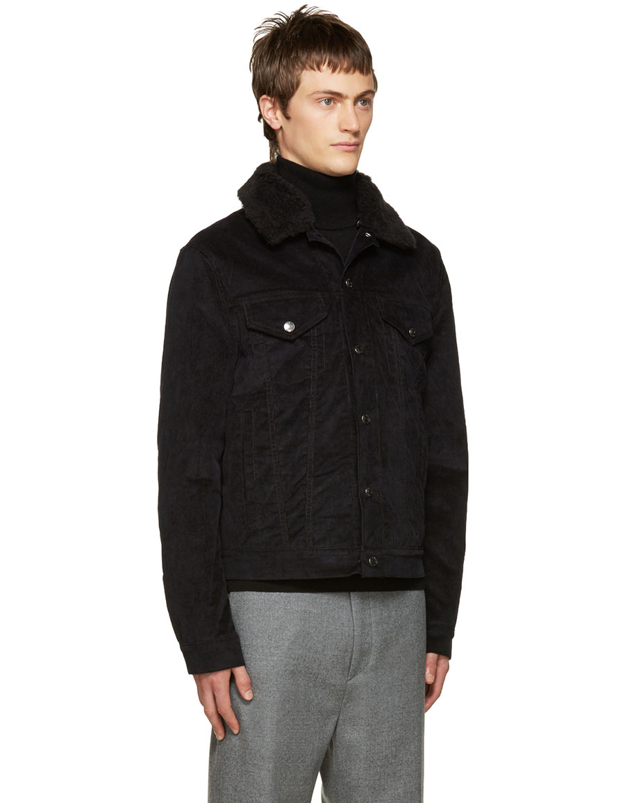ACNE STUDIOS Black Corduroy Beat Jacket