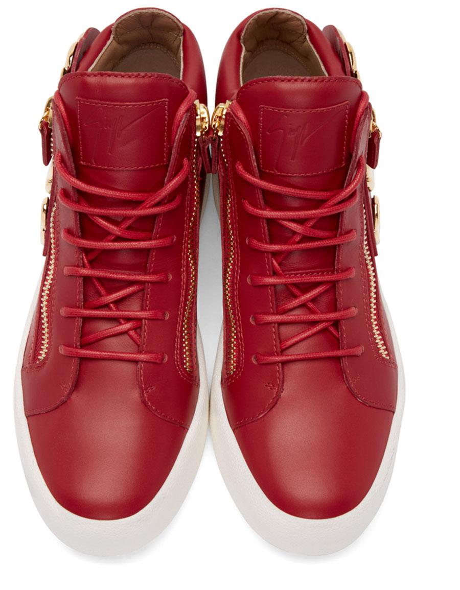 GIUSEPPE ZANOTTI Red Wings London High Top Sneakers