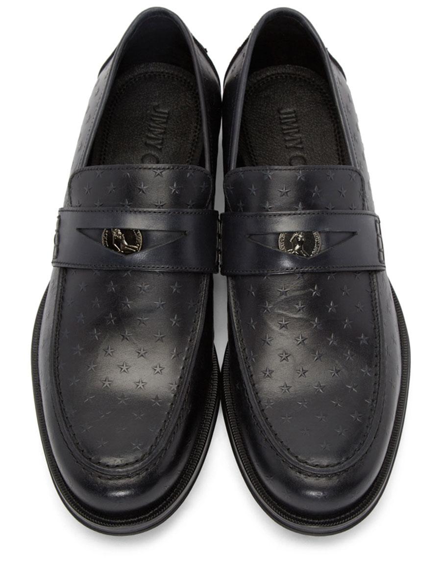JIMMY CHOO Black Star Darblay Loafers