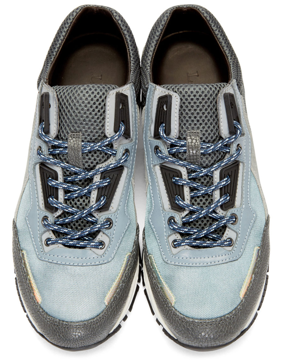 LANVIN Grey Mix Sneakers