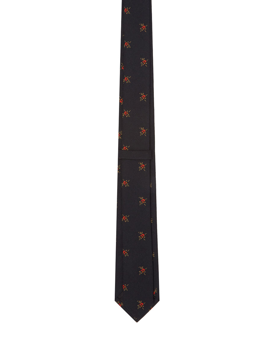 GIVENCHY Black Floral Tie