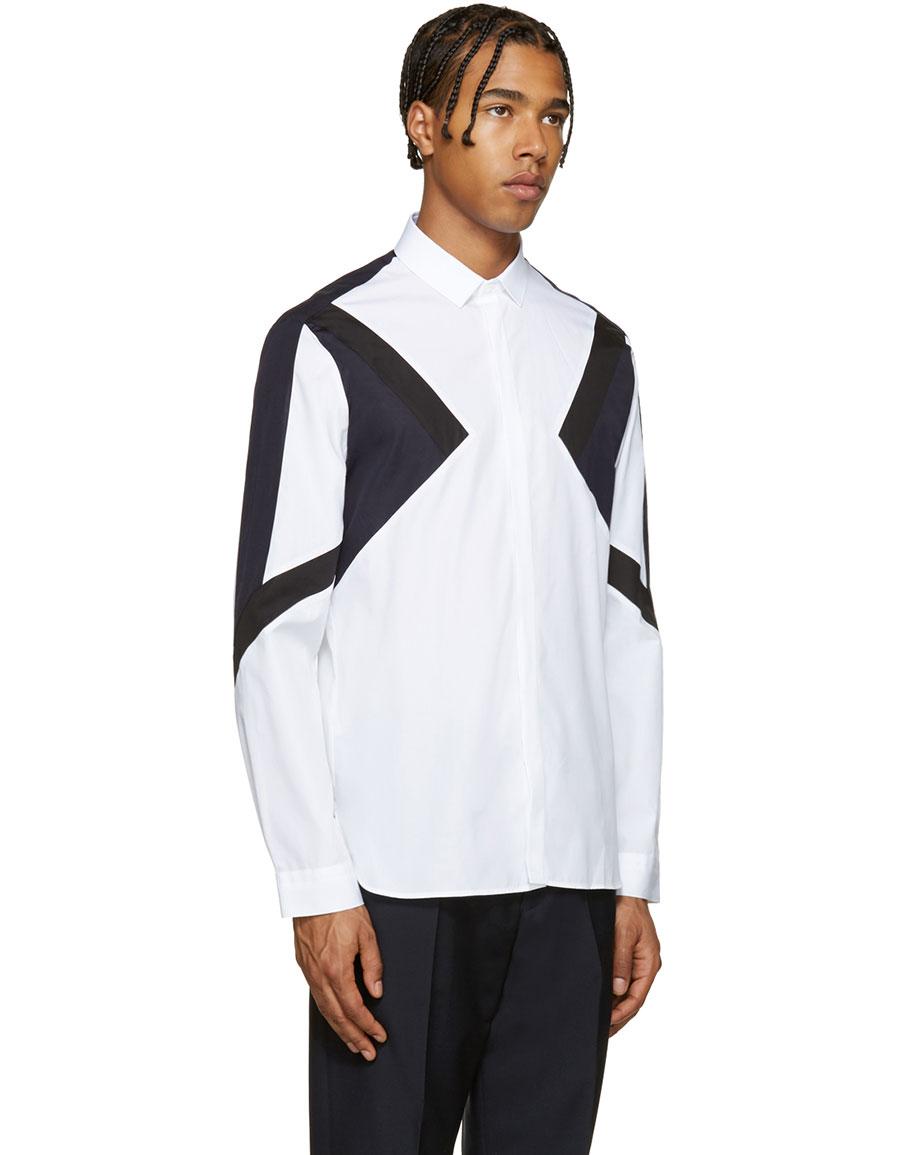 NEIL BARRETT Tricolor Modernist Shirt