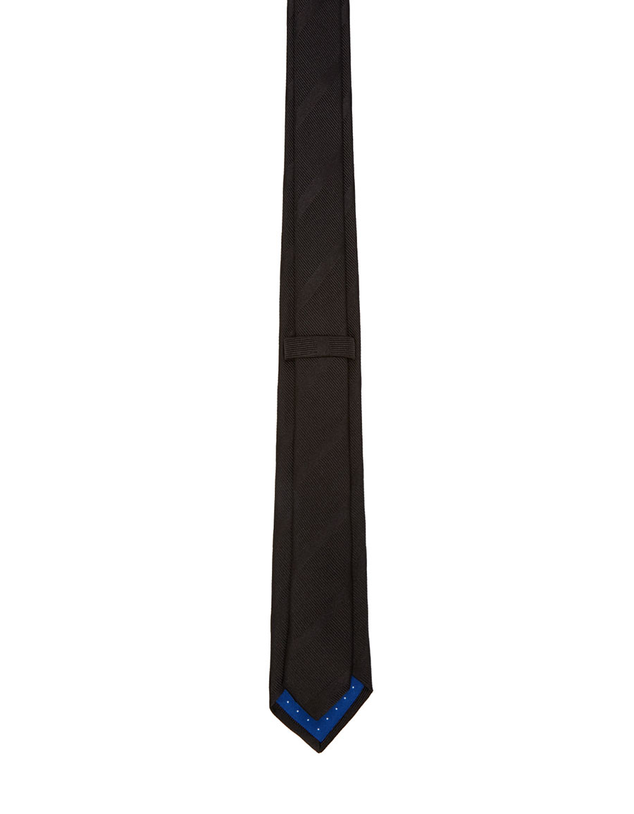 PAUL SMITH Black Striped Silk Tie