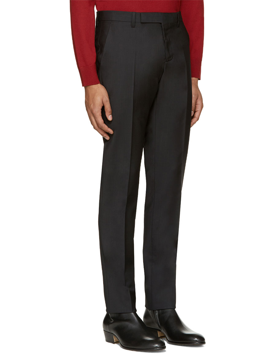 MAISON MARGIELA Black Wool Trousers