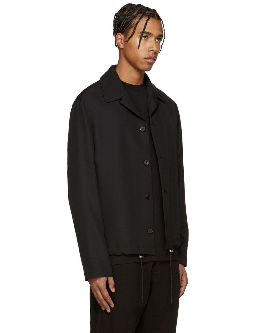ALEXANDER MCQUEEN Black Wool Aoyama Jacket