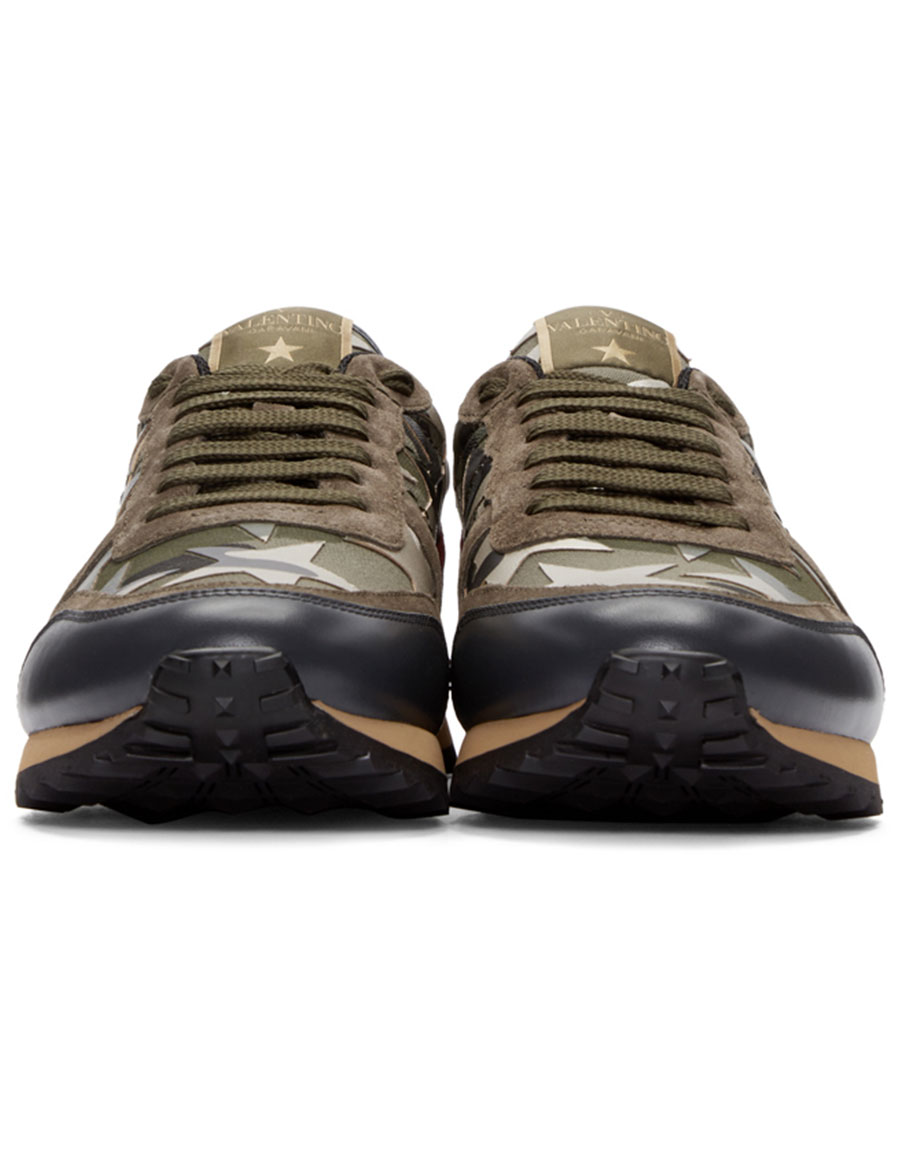 VALENTINO Green Stars Camo Sneakers
