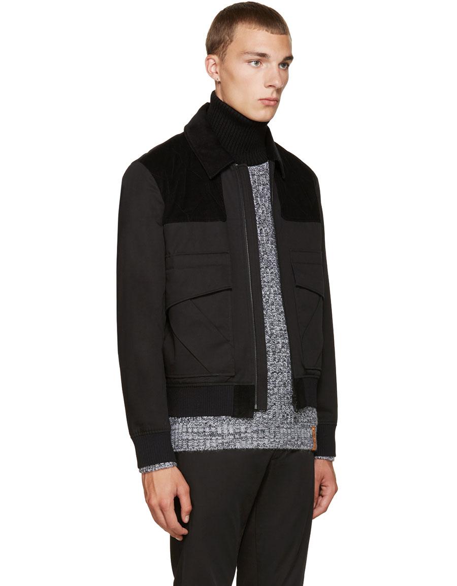 KENZO Black Twill & Corduroy Jacket