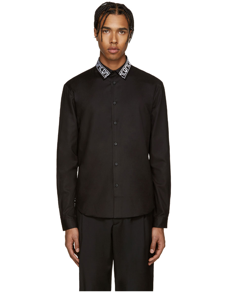 ALEXANDER MCQUEEN Black Googe 04 Logo Shirt