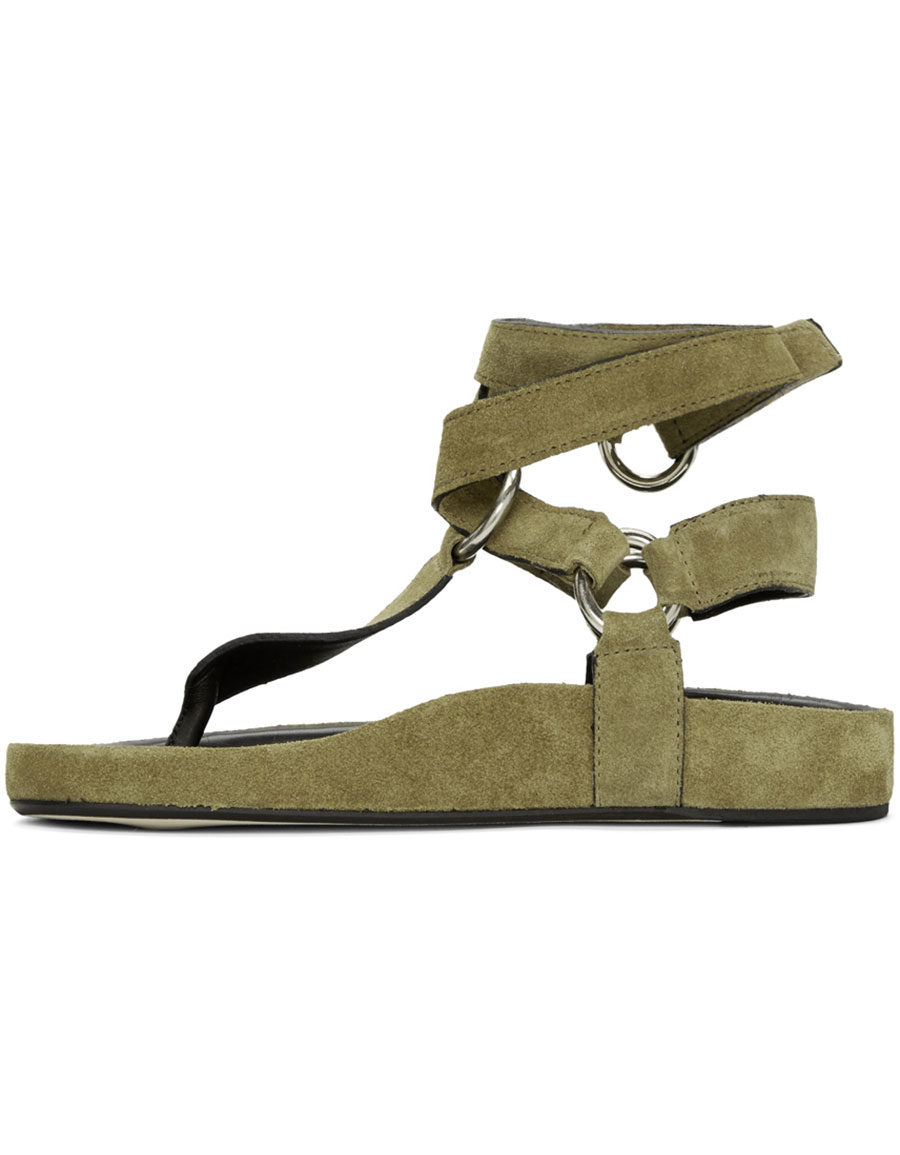 ISABEL MARANT Brown Suede Loig Sandals