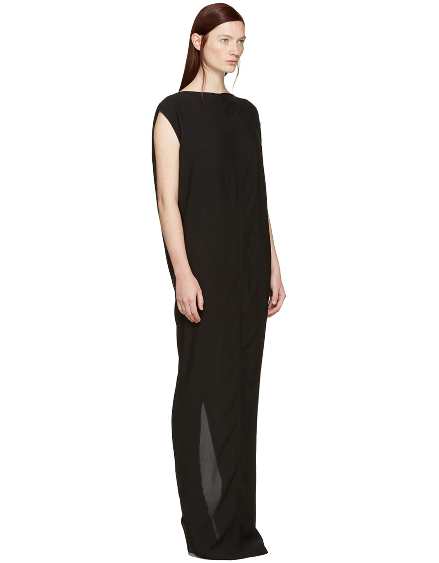 RICK OWENS Black Long Dagger Dress