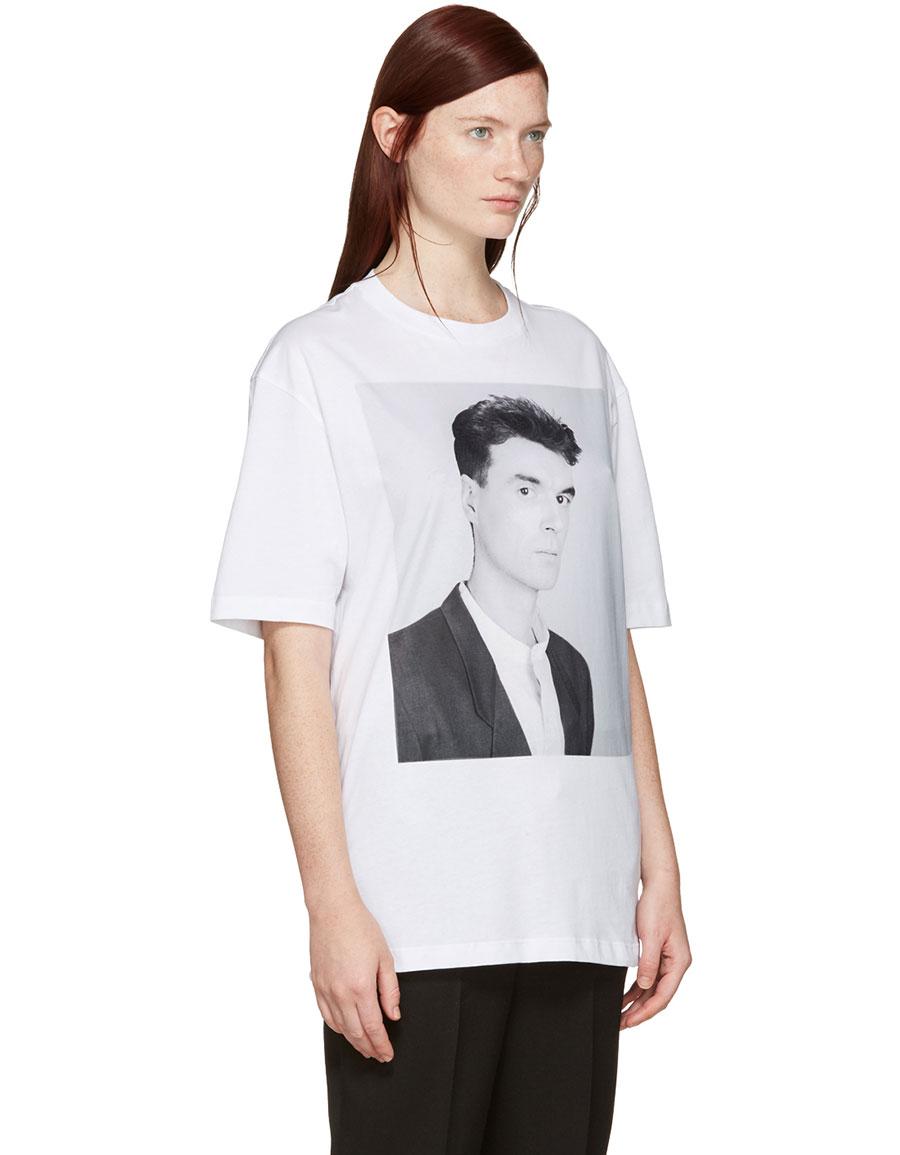 RAF SIMONS White Robert Mapplethorpe Edition 'David Byrne' T Shirt