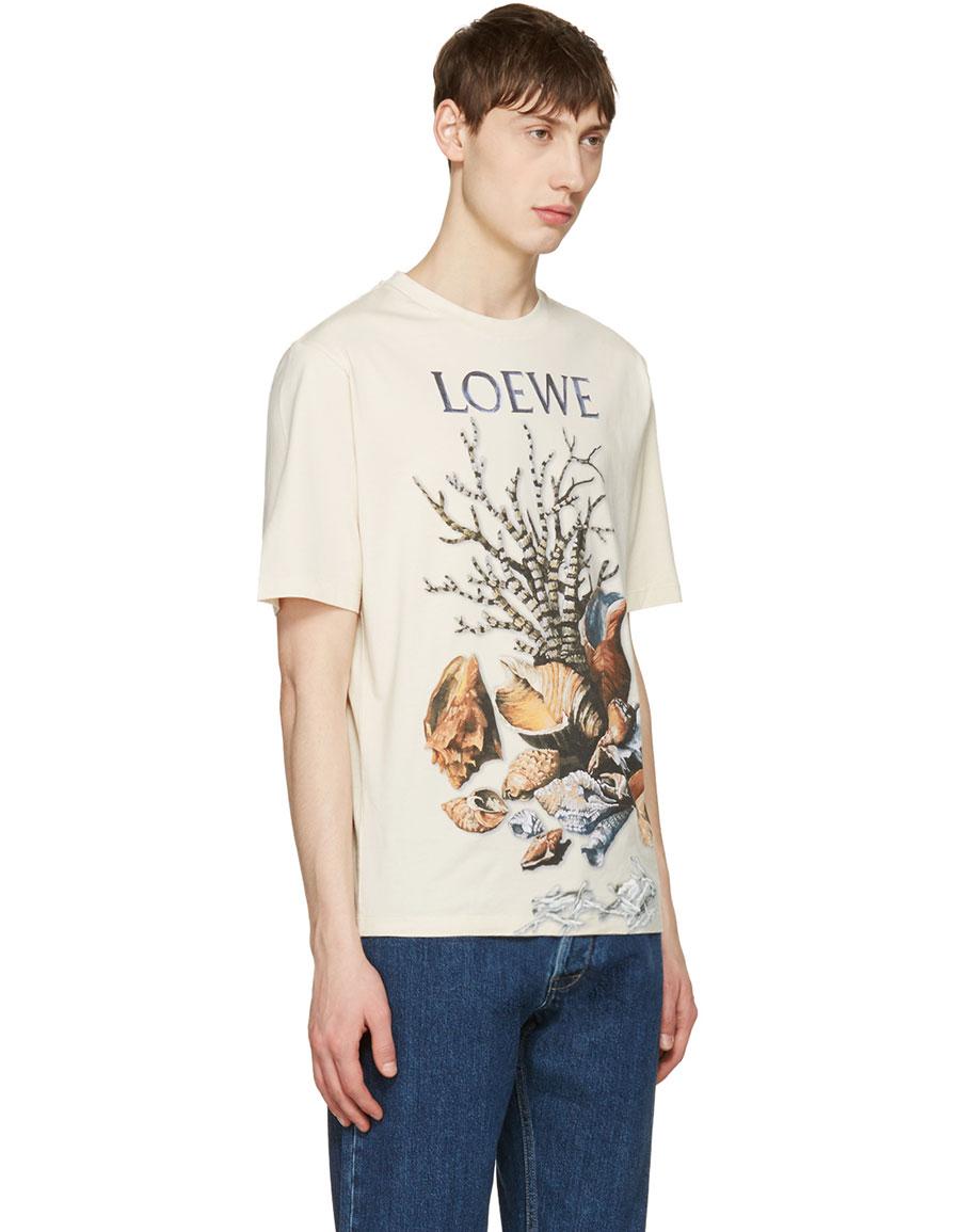 LOEWE Beige Shell Still Life T Shirt