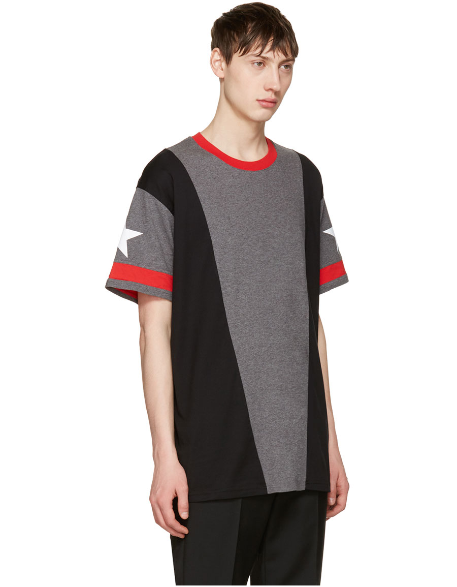 GIVENCHY Grey Star T Shirt
